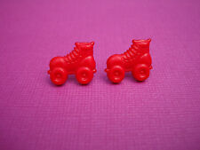 FUNKY RED ROLLER BOOT EARRINGS CUTE KITSCH RETRO COOL 80s DERBY DISCO SKATE GIRL