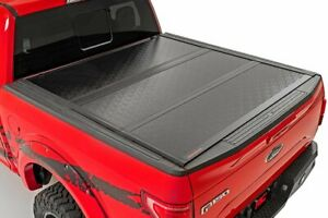Rough Country Low Profile Hard Tri-Fold fits 15-20 Ford F150 5.5 FT Bed Tonneau