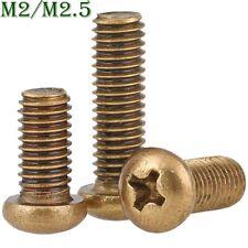 M2 M2.5 Brass Phillips Cross Screws Pan Head Machine Screws Bolts DIN 7985A