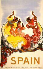 Original Vintage Jose Morell Spain Travel Poster 1948 Dancing Flamenco
