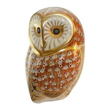 ROYAL CROWN DERBY PORCELAIN ANIMAL PAPERWEIGHT BARN OWL
