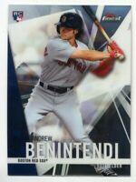 Andrew Benintendi Topps Series 1 Logo Patch Card #PWP-ABN Boston Red Sox