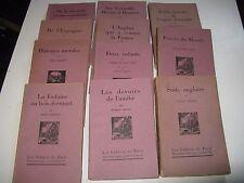 """LOT 12 N° """"CAHIERS DE PARIS"""" 1925-28 MAURRAS GREEN BLOCH POURRAT RIVIERE / Vélin"""