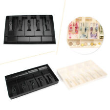 Cash Register Drawer Insert Tray 5 Bill/5 Coin Compartments Money Storage Box