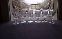 6 verres à eau en cristal de baccarat ? saint louis ? lot 1