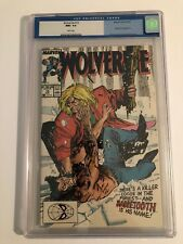 Wolverine #10 CGC 9.6, White Pages! Sabretooth Battle!