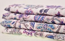 2.5 Yard Hand Block Print Vegetable Dye Indian Flower Print Cotton Dabu Fabric