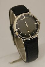 Vintage Longines Automatic Mystery Dial 10K White Gold Filled 33mm Watch
