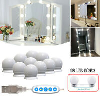 Make Up Mirror Lights 10 LED Kit Bulbs Vanity Light Dimmable Lamp Hollywood New