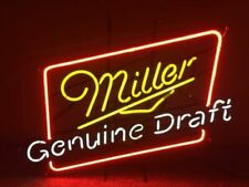 "Miller Genuine Draft Neon Light Sign 17""x14"" Lamp Beer Bar Pub Glass Display"