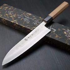 Japanese KANEHIRO AOGAMI Blue Super Clad St NASHIJI Gyuto Chef Knife 180mm Japan