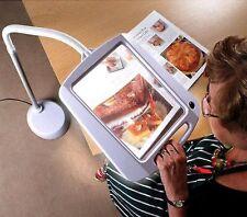 Magnifying Reading Glass Led Light 5x Magnifier Lamp Large Desk Floor Flexible