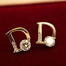 Hot Selling Fashion Gold Plated Charm Women Letter D Earrings Ear Stud Jewelry