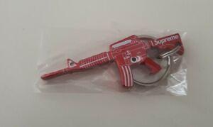 Rare FW14 Supreme M16 Bottle opener keychain keyring gun red
