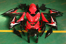 Fairings for GSXR600/750 06-07 Black and Red colors ABS Kits 2006 2007