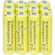 12x AA battery batteries Bulk Nickel Hydride Rechargeable NI-MH 3000mAh 1.2V Yel
