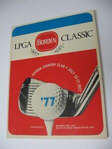 1977 LPGA Borden Golf Classic Tournament Program- Riviera C.C., Columbus, Ohio