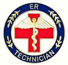 ER Lapel Pin Technician Emergency Room Tech Red Cross Caduceus Medical 105 New