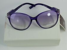 Anais Gvani New York Women's Round Purple Sunglasses 100% UV 400 Protection