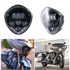 Motorcycle LED Headlight 50W Cree H/L Beam Lamp For Victory cross-country Balck