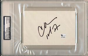 CHARLES BARKLEY Single Signed Index Card Philadelphia 76ers HOF MVP GA PSA/DNA