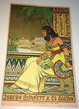 Antique Victorian American Egyptian Art Advertising Lithograph Trade Card C.1879