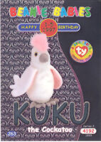 TY Beanie Babies BBOC Card - Series 2 Birthday (SILVER) - KUKU the Cockatoo - NM