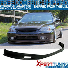 Front Bumper Lip Spoiler Fit 99-00 Civic EK JDM SPOON Urethane 1999 2000