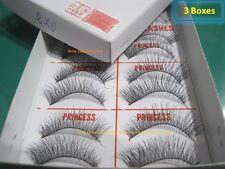 3 Box-New Original PRINCESS LEE Handmade False Fake Eyelash-X6 Normal (10 Pairs)