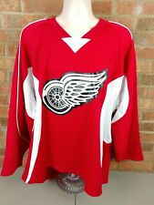 ADULT Beer League Team Hockey Jersey BLACK GRAY Chest Stripe Red Collar CHOICE