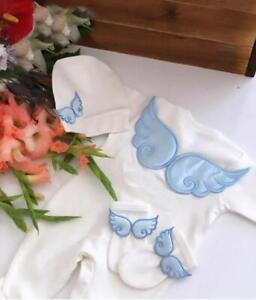 Baby Clothes Newborn Romper Sleep Suit  4 Piece Wing Set