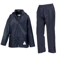 Result Junior Waterproof Windproof Rain Suit Jacket/Coat & Trousers Set