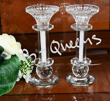 2in1 Crystal Cut T-Light & Candlestick Holder SwarovskElement Wedding Gift Box