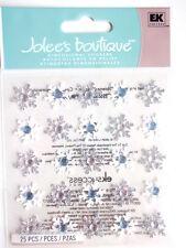 JOLEE'S boutique 3D Autocollants-Flocons de neige répétitions blanc & argent Noël