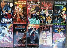 Wholesale Lot of 10 Anime VHS VIdeo Sol Bianca Dark Warrior Star Demon Volume 1s