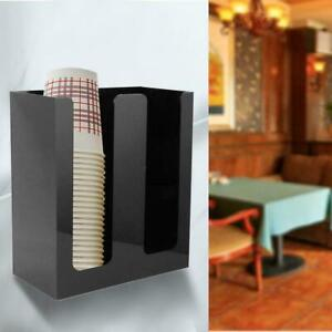 Disposable Plastic Paper Cup Dispenser Coffee and Milk Tea Cups Storage Holder
