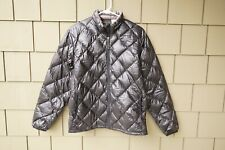 Womens Mont Bell Light Down Jacket Coat Puffer Black Large Alpine EX