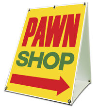 Pawn Shop Arrow Sidewalk A Frame 18x24 Outdoor Store Retail Sign