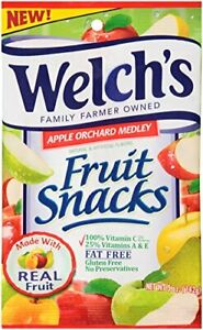 WELCH'S Fruit Snacks, Apple Orchard Medley, 5 Ounce