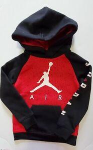 Nike Air Jordan Jumpman Little Boys Fleece Logo Hoodie Gym Red Sz 6 - NWT