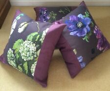 """Designers Guild Alexandria Amethyst Fabric Cushion Cover Pillow 20"""""""