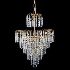 Modern Crystal Ceiling Elegant Chandelier Pendant Fixture Home Lighting E12 Lamp