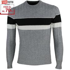 Maglione uomo Maglia slim fit pullover elasticizzato maglietta a righe RDV