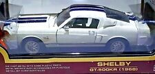 Road Legends 1968 FORD Mustang SHELBY GT-500KR White 428 COBRA JET 1:18 Diecast