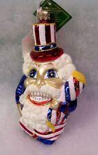 New Slavic Treasures Retired Glass Ornament - Funky Sam (Patriotic)