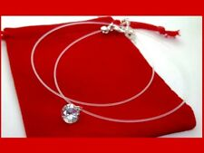 Crystal Zircon Invisible Transparent Fishing Line Chain Necklace Fashion Elegant