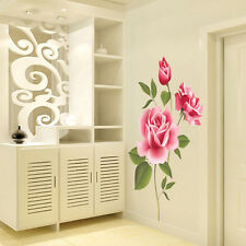 Rose Flower Removable Bedroom Art Mural Vinyl Wall Sticker DIY Decal Home Decor