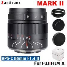 7artisans 55mm f/1.4 II Manual Focus APS-C Lens for Fujifilm FX mount X-Pro2 T10