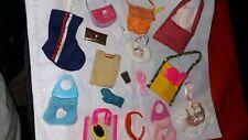 Mattel Barbie Doll Accessories, Fun Stuff, 22 Purses and Other Fun Items Lot #1