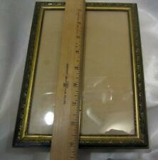 """Antique Picture Frame -  Brass With Fine Leaf  Decoration 7"""" x 9"""""""